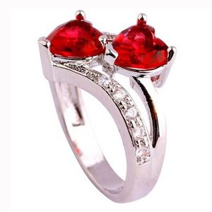 Jewelry - Silver Double  Love Heart Ring